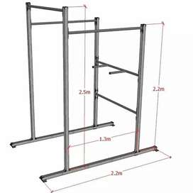 Pull up bar and dipping bar heavy duty frames are guaranteed.