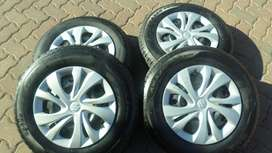 New 14 inch Tyres and Rims (Set of 4)