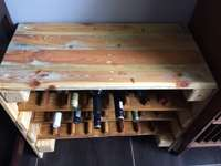 Solid timber wine rack 0