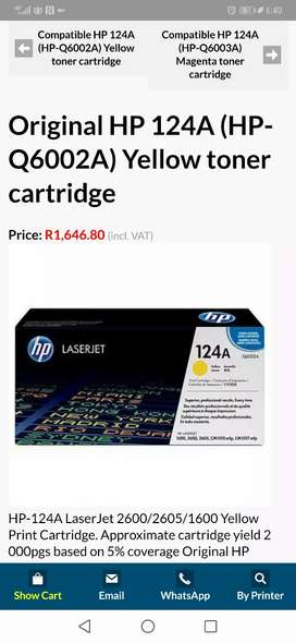 Original HP 124A (HP-Q6002A) Yellow toner cartridge
