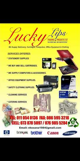 We pay more for new cartridges and empty cartridges and we supply