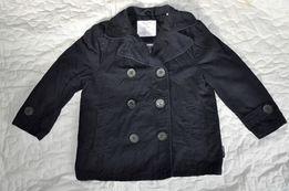 granatowy płaszcz 3-4 lata r.104