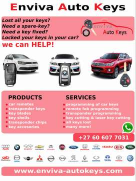 CAR KEYS, CAR REMOTES, PROGRAMMING TO YOUR VEHICLE AND MUCH MORE!