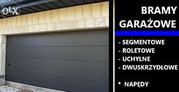 Brama segmentowa do garażu.Wiśniowski z napędem, antracyt, 2400 x 2250
