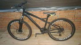 Крутой черный велосипед недорого как новый хардтейл