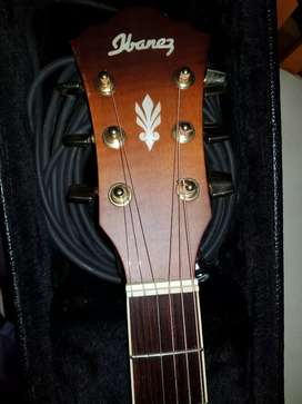 Left handed Ibanez accoustic electric guitar