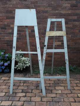 Two x Old-used. Easels for painting,drawing,displaying.