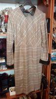 ORSAY sukienka ze skorzanymi mankietami i kolnierzykiem rozm M
