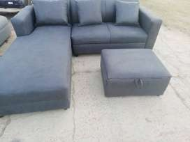 Two seater with side lounger and storage ottoman for R3500