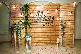 Свадебный декор, фотозона