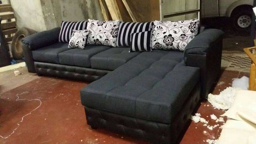 Trendy L shaped couches 4 sale at factory prices. No deposit. 0
