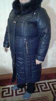 Женское зимнее пальто большого размера, 58 размер