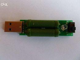 Нагрузка USB 1-2A для проверки зарядных устройств. Для Charger Doctor.