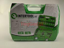 Набор инструмента, головок, насадок InTertool 46 предметов (ET-6046)