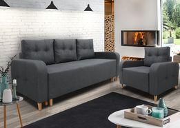 MEGA Zestaw / Sofa + Rozkładany fotel / Nowość / Dostawa GRATIS !