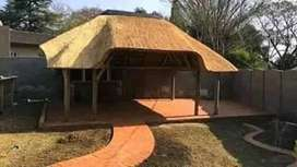 thatch and pool