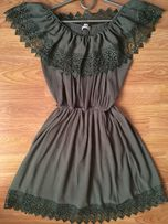 Красивое платье цвет хаки!