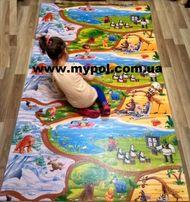 Коврик детский развивающий игровой Мадагаскар Киндер Пол, термо ковер