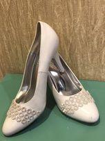 свадебные туфли ,туфли женские, белые туфли 37 размер
