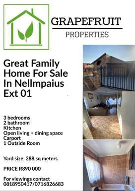 Great Family Home For Sale In Nellmpaius Ext 01