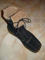 Зимние сапоги Полусапоги Ботинки натуральный замш на овчине 23 см стел