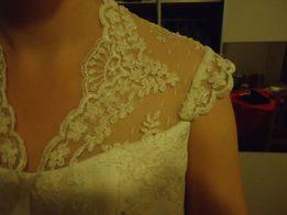 Koronkowy gorset ślubny, rozmiar 36, Kolor ecri / kremowy.
