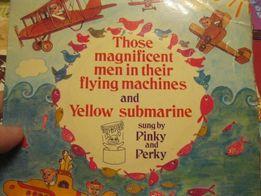 пластинка musik for pleasure PINKY and PERKY yellow submarine 1968г