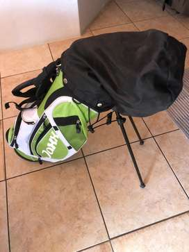 Kids golf kit with 3 kids clubs