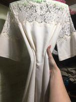 Платье белое , платье свадебное, платье молочное, love republic