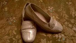 Женские туфли мокасины Jenny by ara (Германия) р.40, светло бежевые