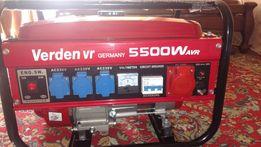Генератор бензиновий, новий, Verden vr 5500 w Germany