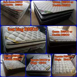 Bamboo luxury pillowtop double size and more beds on SPECIAL, pay COD