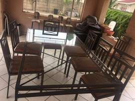 8 Seater table with chairs