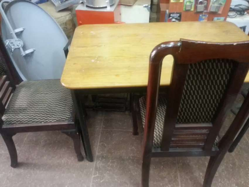 Dinning table with 2 chairs 0