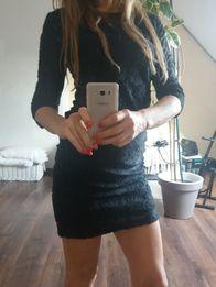 Sukienka welurowa mini Reserved czarna