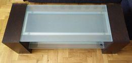 Stolik RTV AUDIO szafka - szkło hartowane do 70kg jak IKEA półka