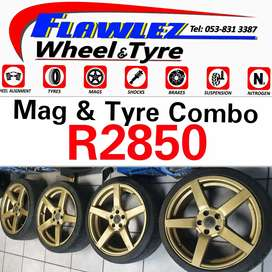 17 inch Mags with Tyres for Sale 5/100 pcd