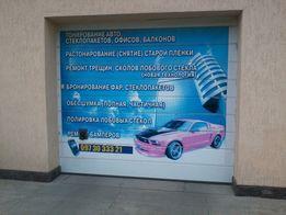 Тонировка авто, офисов в Мелитополе, Ремонт трещин и сколов, Обесшумка
