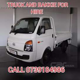 BAKKIE and Trucks HIRE