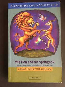 THE LION and THE SPRINGBOK by RONALD HYAM & PETER HENSHAW
