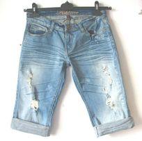 Dżinsowe szorty r 34 jeansowe spodenki jeansowe szorty z dziurami
