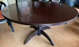R600 - Round Dinner Table - Wooden