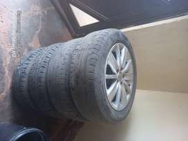 """Polo tsi Original rims and tyres with wv caps 185/60 15"""""""
