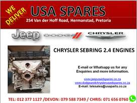 2.4 CHRYSLER SEBRING USED REPLACEMENT ENGINES FOR SALE