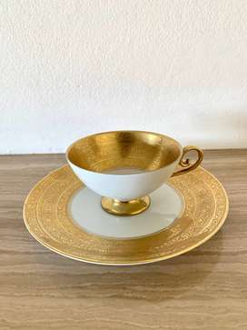 Tirschenreuth Germany Tea Cup and Matching Plate