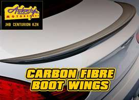 Carbon Fibre bootwings, bootspoilers, thin lips etc suited BMW