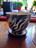 Горшок керамический с поддоном диаметр 13 см