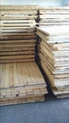 Wood decking available. Picket fencing pallets. Wood shelving,