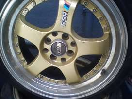 17 inch SSR type c Rims with tyers