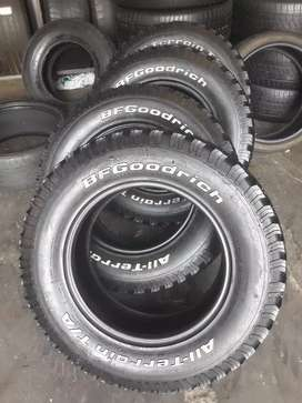 4× 265/65/17 BF Goodrich KO tyres for sale